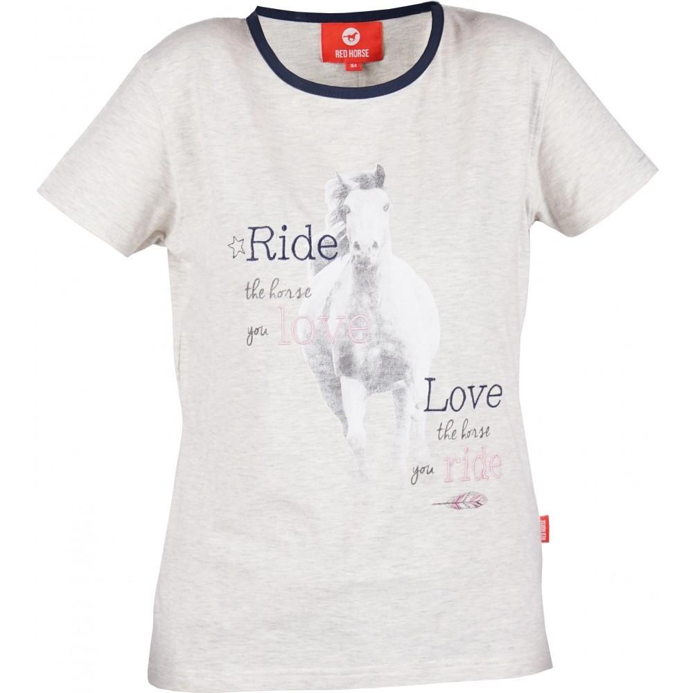 RED HORSE Hall hobusega T-särk DIVA