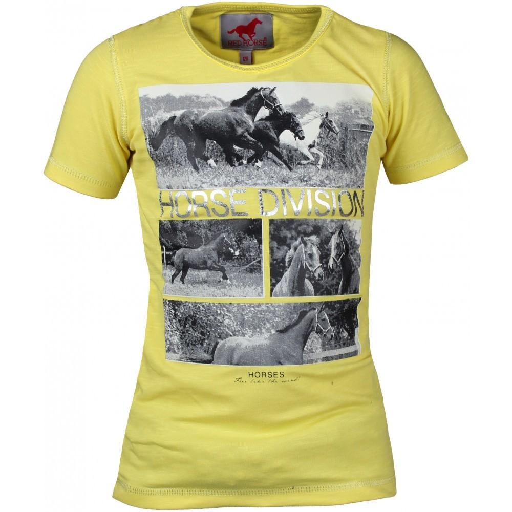 RED HORSE Kollane laste T-särk SAN REMO -40%! (116 cm)