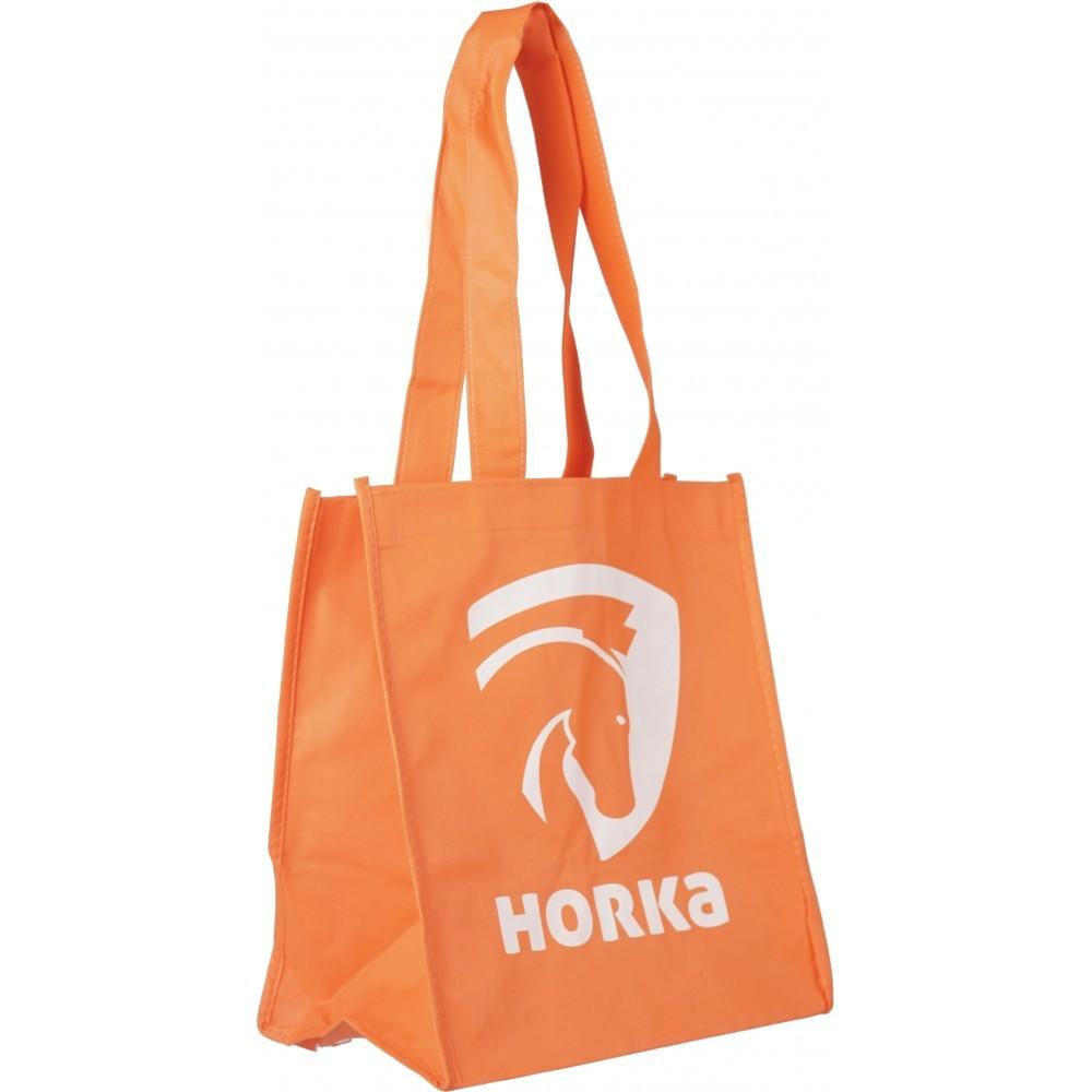 b25d68f4f6f RATSAVARUSTUS HORKA Oranž sangadega riidest kott   Harjakotid ...