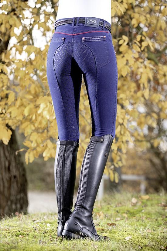 HKM Teksasinised täisgrippidega naiste ratsapüksid -PERFORMANCE JEGGINGS-